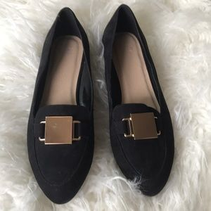 ASOS Pointed Toe Loafer W/ Gold Buckle